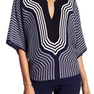 Trina Turk indigo/white sweater